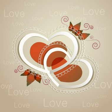 Heart label. Vector illustration. stock vector