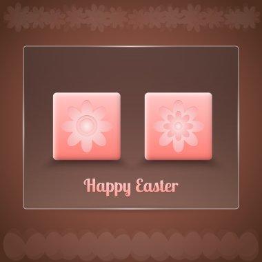 Easter card, vector design stock vector
