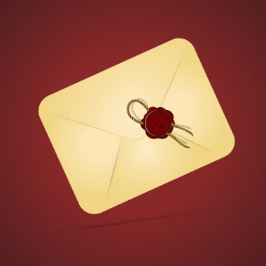 Vintage paper envelope with sealing wax stamp stock vector