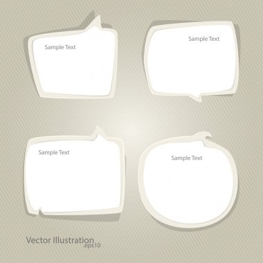 Vector set of speech bubbles stock vector