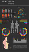 vector infographics on a black background