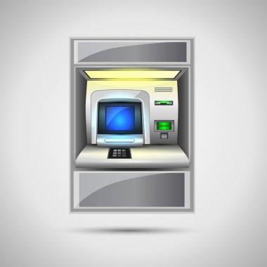 ATM vector illustration, vector design stock vector