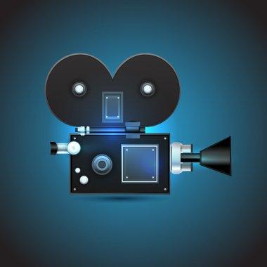 Cinema camera, vector illustration stock vector