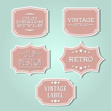 Vector collection - vintage and retro labels stock vector