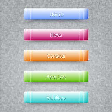 Modern Colored Buttons For Your Website stock vector