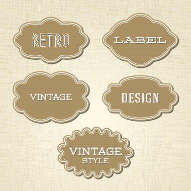 vektör toplama - vintage ve retro etiketleri