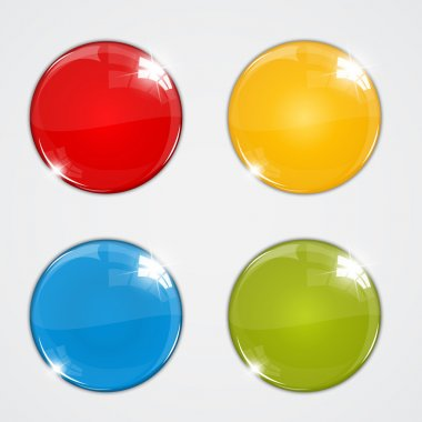 Set of colorful balls on white background stock vector