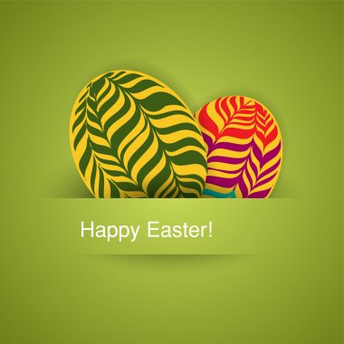 Vector background with easter eggs stock vector