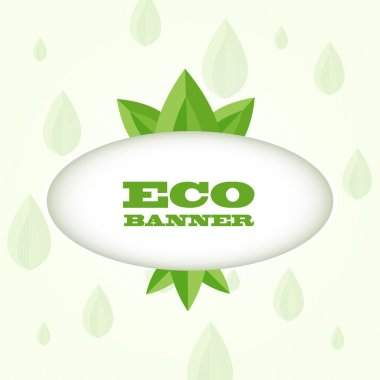 Vector green eco banner stock vector