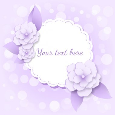 Vector frame with flowers. stock vector