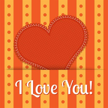 Vector Valentine background with red heart. stock vector