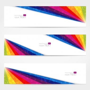 Website banner set with place for your text stock vector