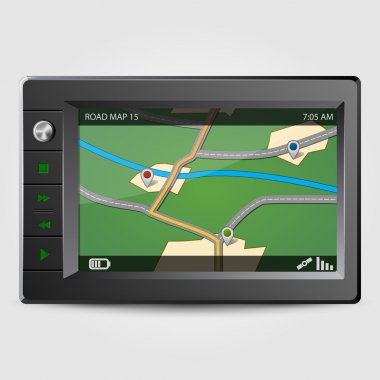 Modern GPS, vector illustration stock vector