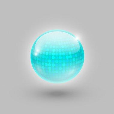 Disco ball. Vector icon. stock vector