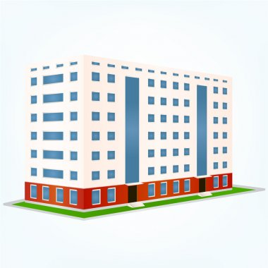 Urban building, vector illustration stock vector