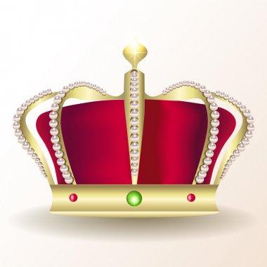 Gold royal crown, vector design stock vector
