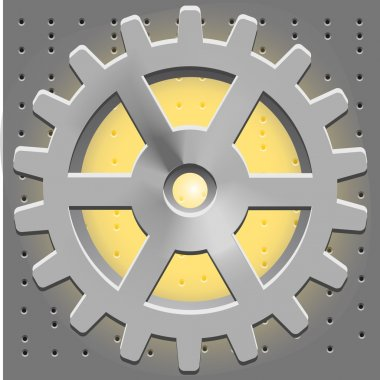 Vector Cogwheel. Gear System stock vector