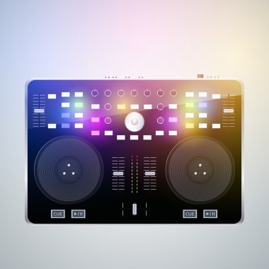 Mixing desk production sound stock vector