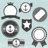 Retro vintage jelvény ikonok a logó, a címke, a csomagolás, a webes és a nyomtatott