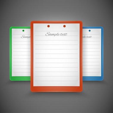 Notepads of vector design stock vector