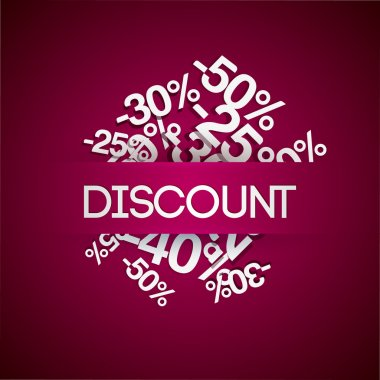 Background with percent discount.