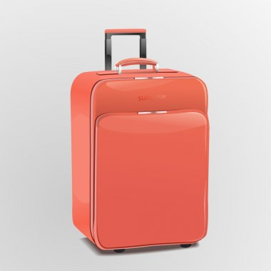 Red suitcase, vector design stock vector
