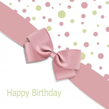 Vector birthday background with bow stock vector