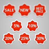 Vektor-Verkauf Aufkleber und Etiketten.