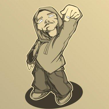 Hip hop man. Vector illustration.