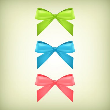 Vector set of colorful bows stock vector
