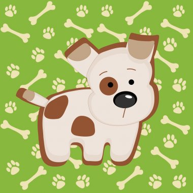 Cute vector puppy illustration stock vector