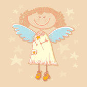 Vector background with angel.