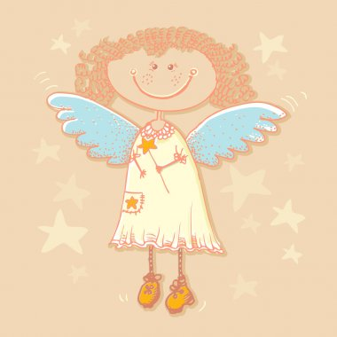 Vector background with angel. stock vector