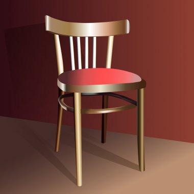 Realistic Chair, vector design stock vector