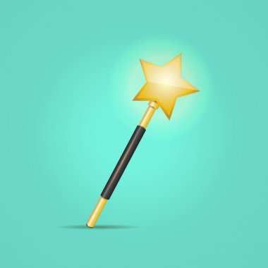 Magic wand, vector design stock vector
