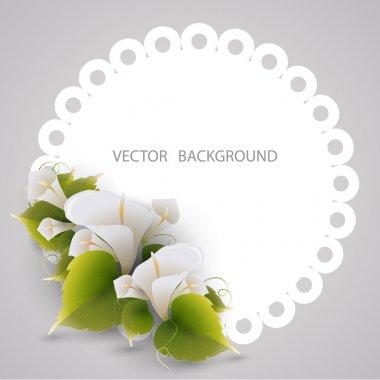 Floral frame. vector design stock vector