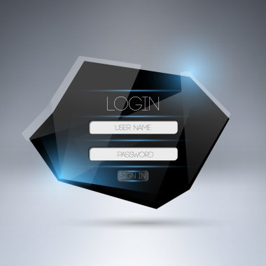 Vector modern login form ui element. stock vector