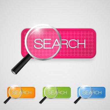 Vector search button set stock vector