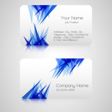 Vector business card , elements for design. stock vector