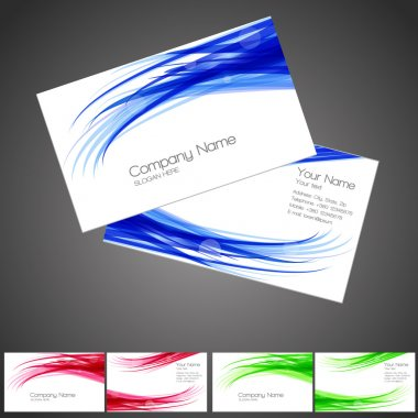 Vector three business card set, elements for design. stock vector