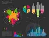 sada prvků vektorový infographic