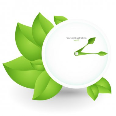 Green clock. vector design stock vector