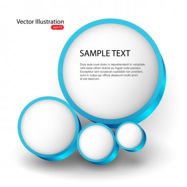 Vector background with abstract bubble. stock vector