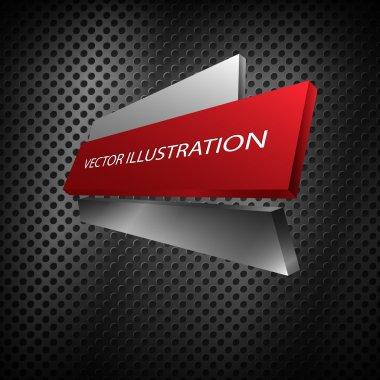 Metallic banner. vector design stock vector