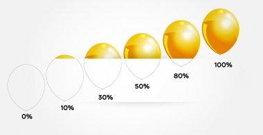 Infographic balloons, vector design stock vector