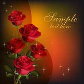 Valentin-napi üdvözlőkártya. Szépség piros rózsa