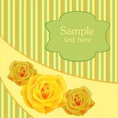 Sárga Rózsa háttér, vektor design