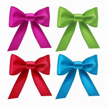 Vector set of colorful ribbon bows stock vector