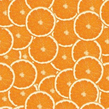Seamless orange slices background stock vector
