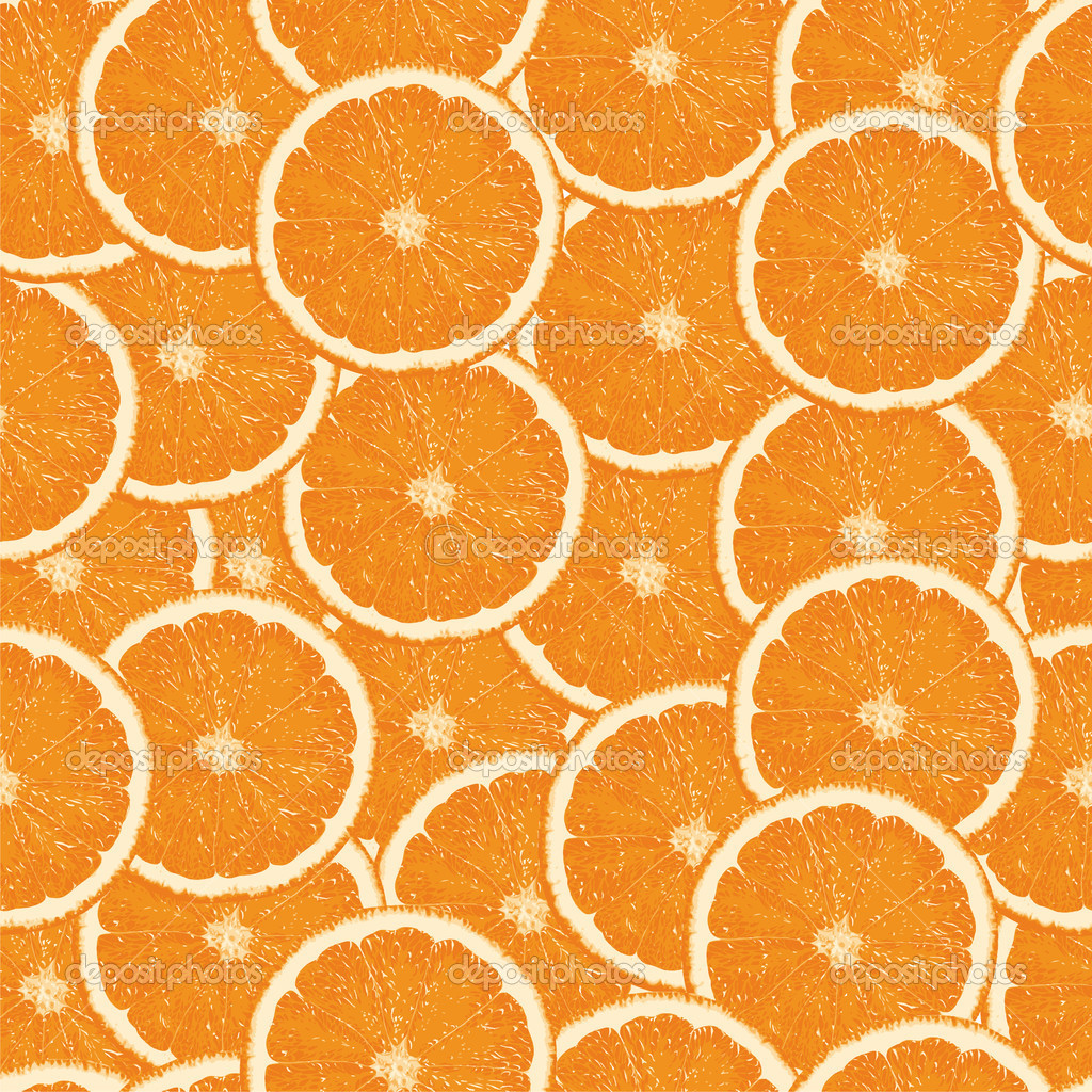 Seamless orange slices background